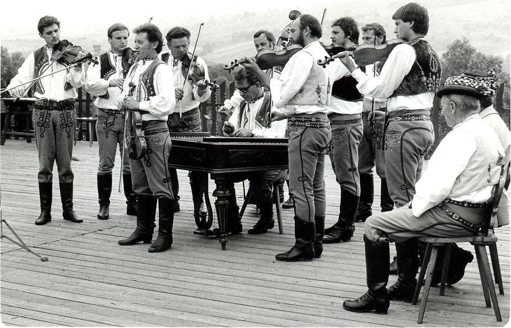 Horňácká muzika Martina Hrbáče na HS v sedmdesátých letech minulého století