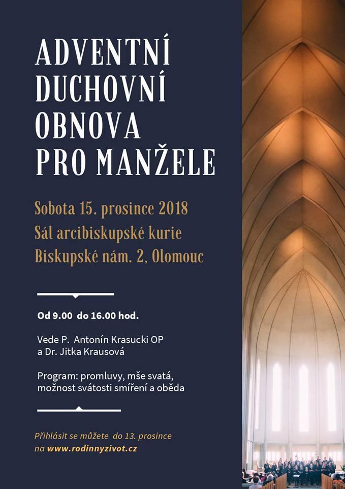 Olomouc  Adventní duchovní obnova pro manžele - Radio Proglas 9c8082f432