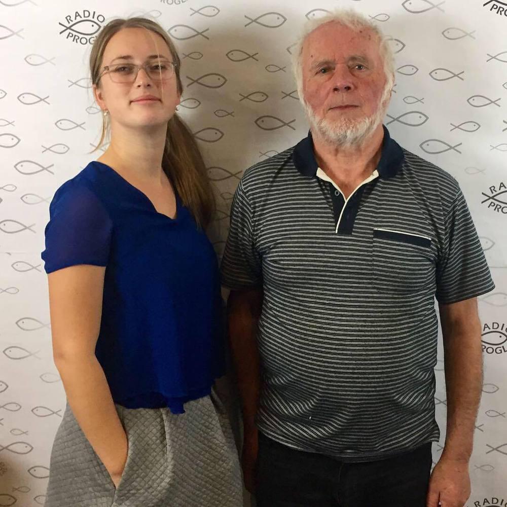 Jaroslav Pavlíček s redaktorkou Alžbětou Havlovlou