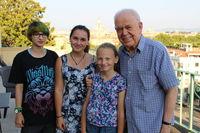 P. Koláček s rodinou