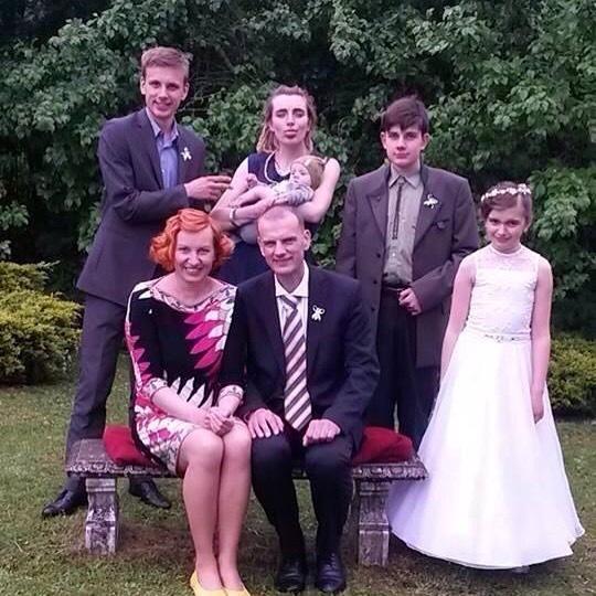 Petra Burianová s rodinou.