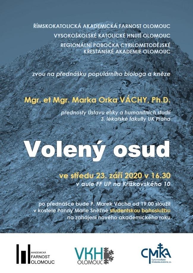 Olomouc: Přednáška P. Marka Orko Váchy