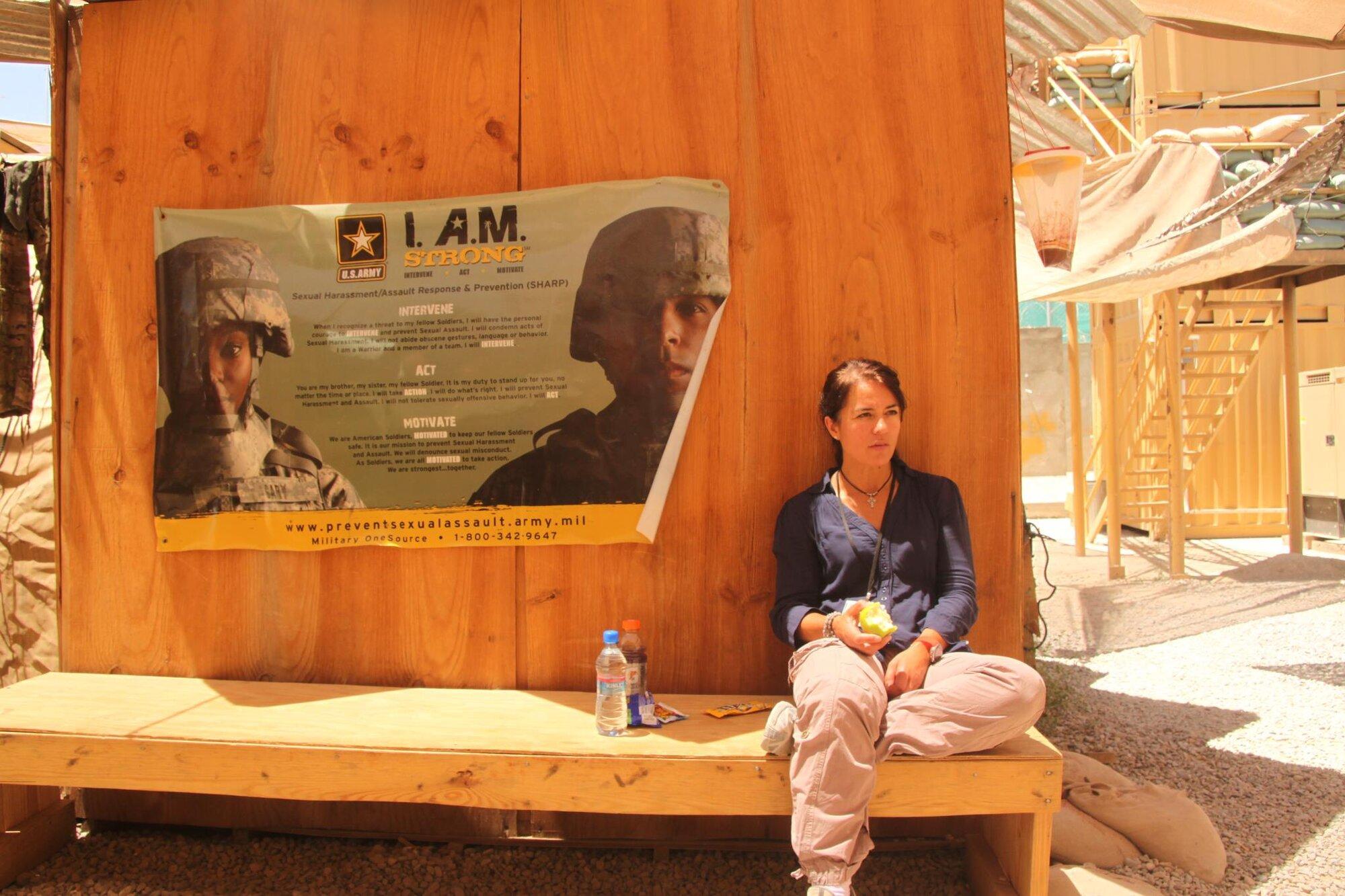 Marisa Perello na misi v Afghánistánu. Soukromý archiv Marisy