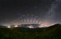 Sledování komety nad Vysokými Tatrami s popisem